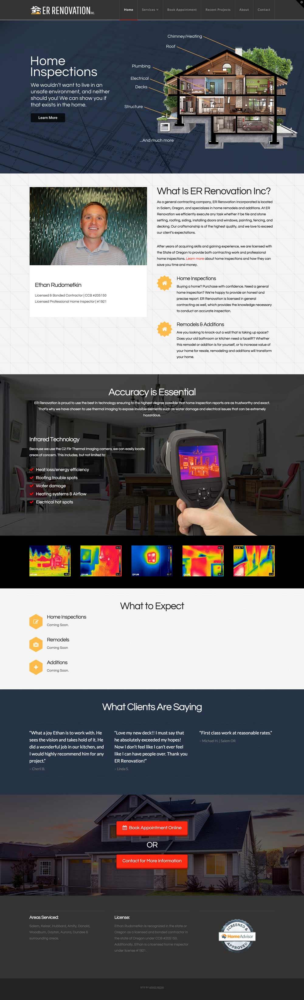 Home Inspection Website - Arkie Media
